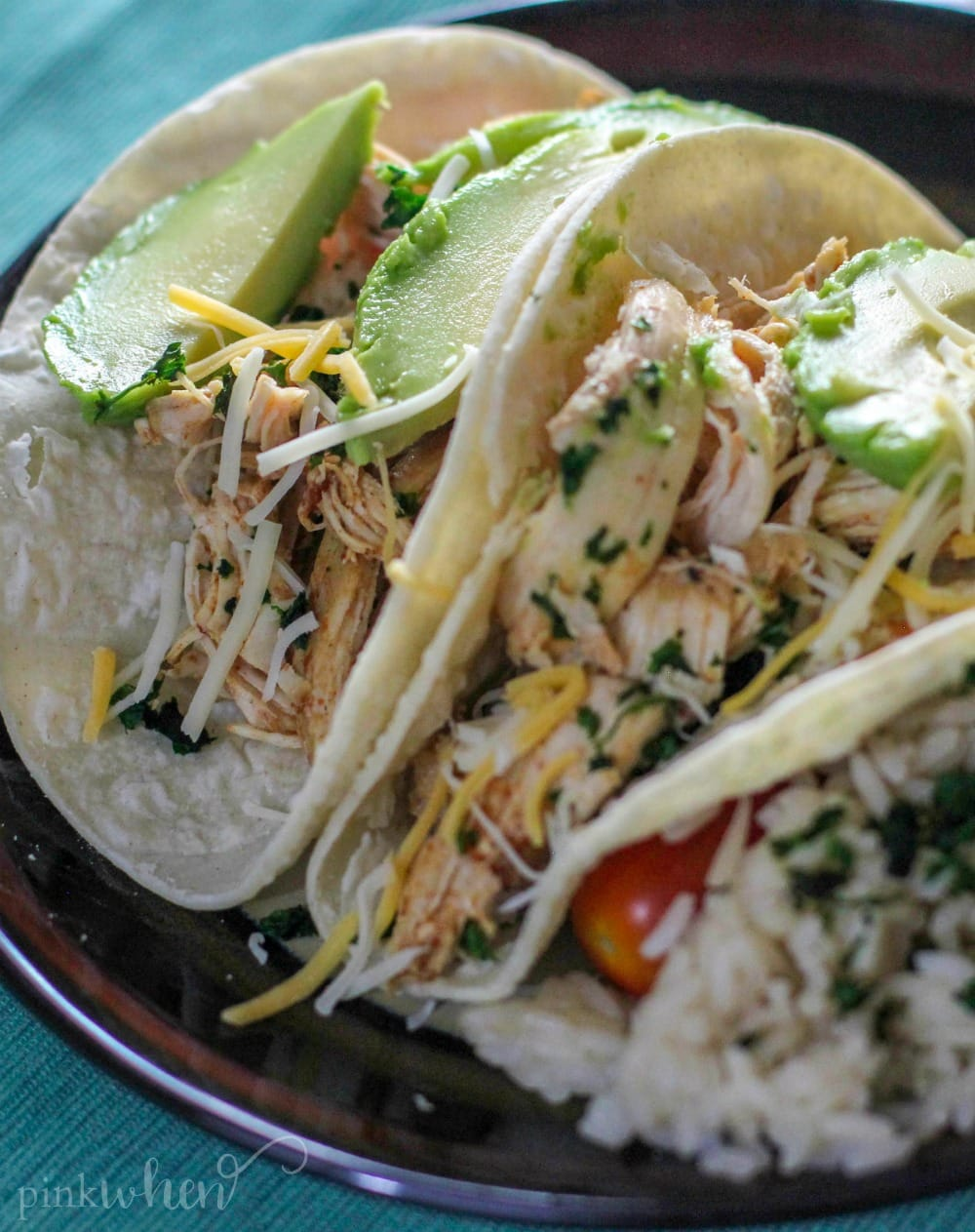 These easy Instant Pot Chicken Tacos are truly set it and forget it.