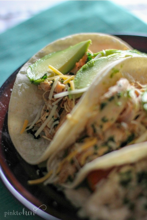 Instant Pot Salsa Chicken Tacos are so delicious, and probably the easiest Instant Pot Chicken Tacos recipe on the internet.