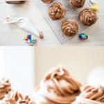 Nutella Buttercream Cupcakes with Hidden Cadbury Egg inside! #Easterdessert #hiddensurprise #nutellacupcakes
