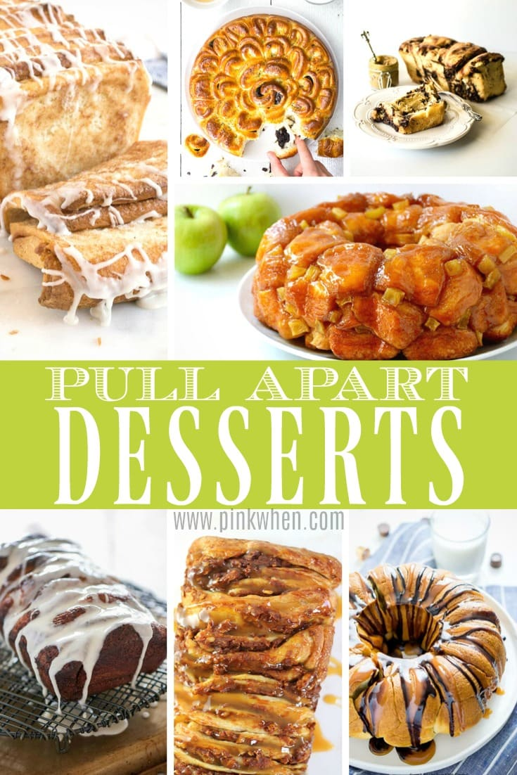 What's better than eating with your hands? Check out all of these amazingly delicious Pull Apart Desserts! #dessertrecipes