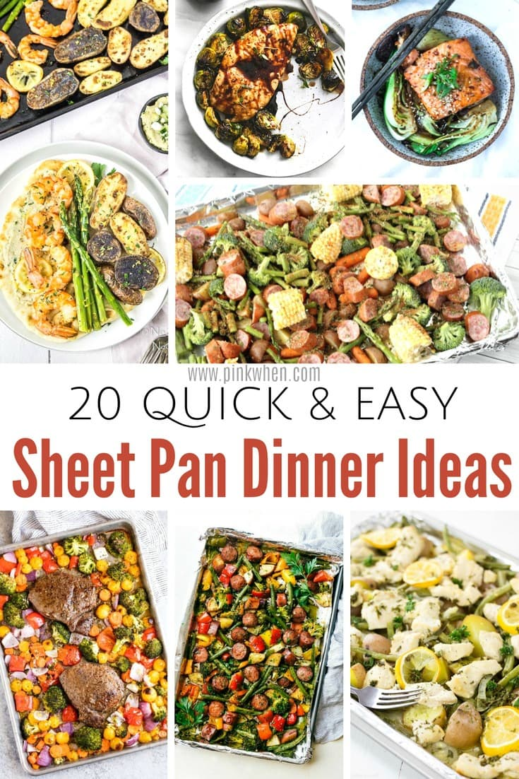 20 quick and easy sheet pan dinner ideas that will have you stocked up on your menu plan!