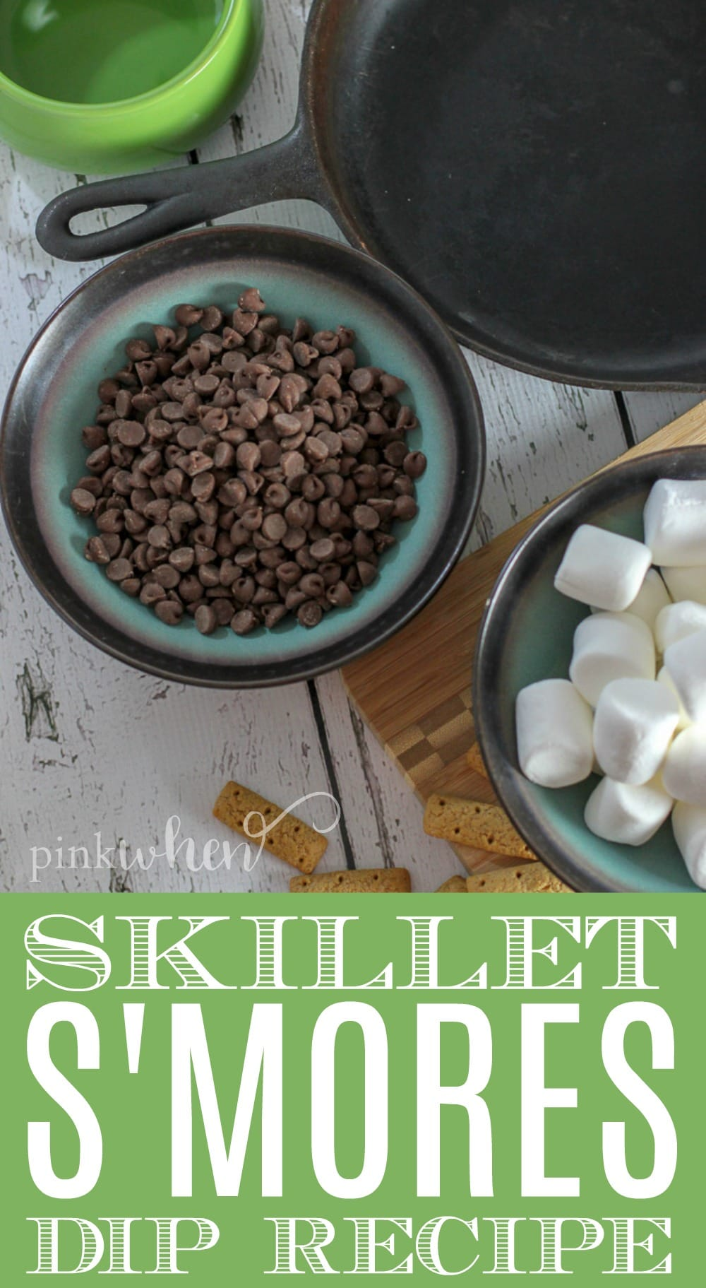 Skillet S'mores Dip Recipe - Easy Smores Dip in under 10 minutes from start to finish!