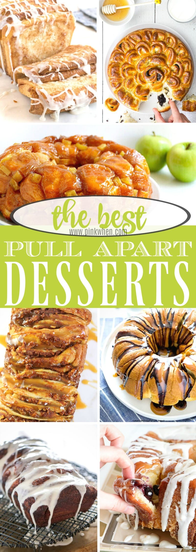 The best pull apart desserts! Nothing is better than eating dessert with only your hands. #dessertrecipes #pullapartdesserts