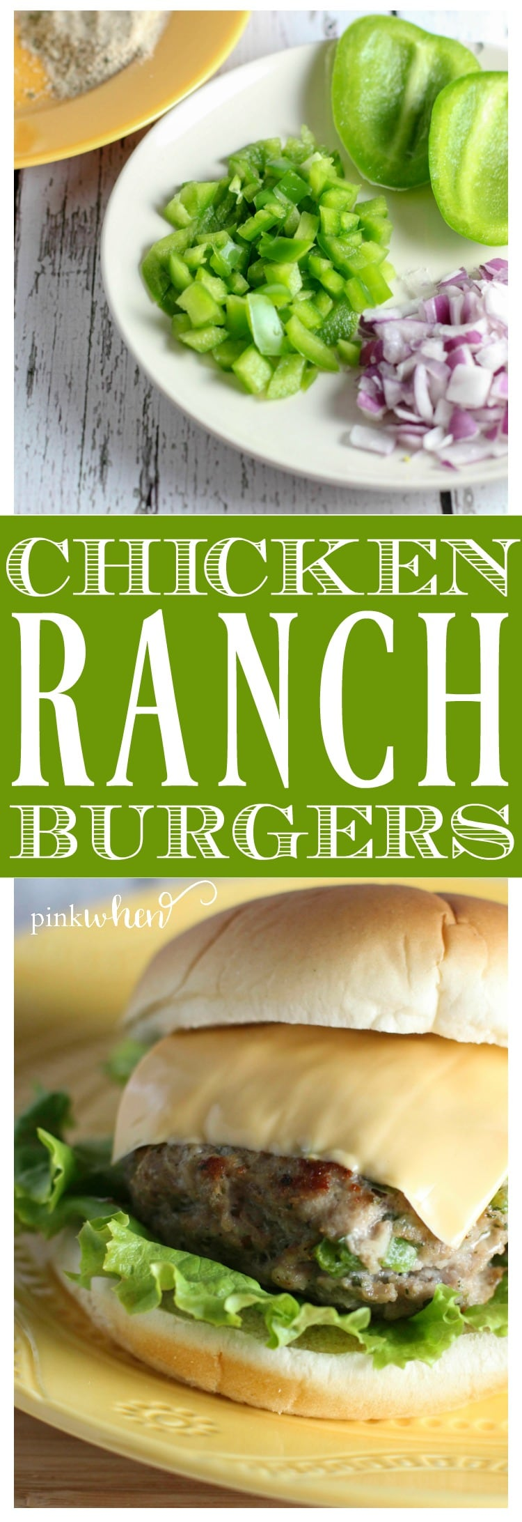These Chicken Ranch Burgers are AMAZING. Read the secret to keep them from shrinking, and for keeping them moist!