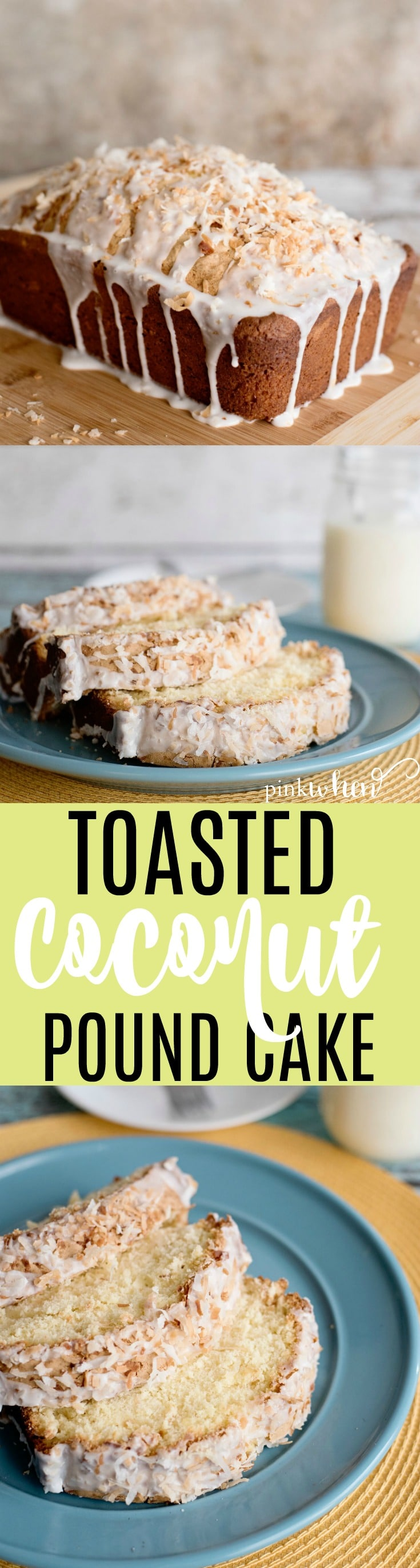 This Toasted Coconut Pound Cake Recipe is mouthwateringly delicious! #poundcakerecipe #easycakerecipe #dreamydessert