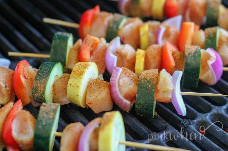 Best Grilled Chicken Recipe - Chicken and Vegetable Skewers