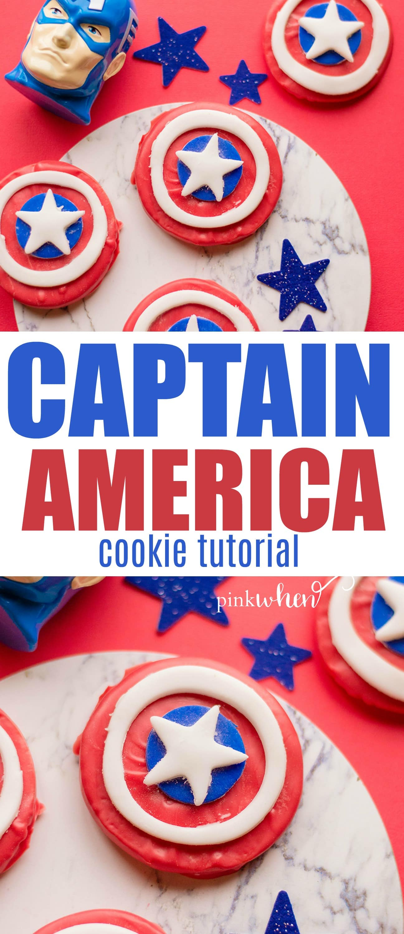 Captain America Shield Cookies #CaptainAmericaShield #CaptainAmericaParty #Avengers