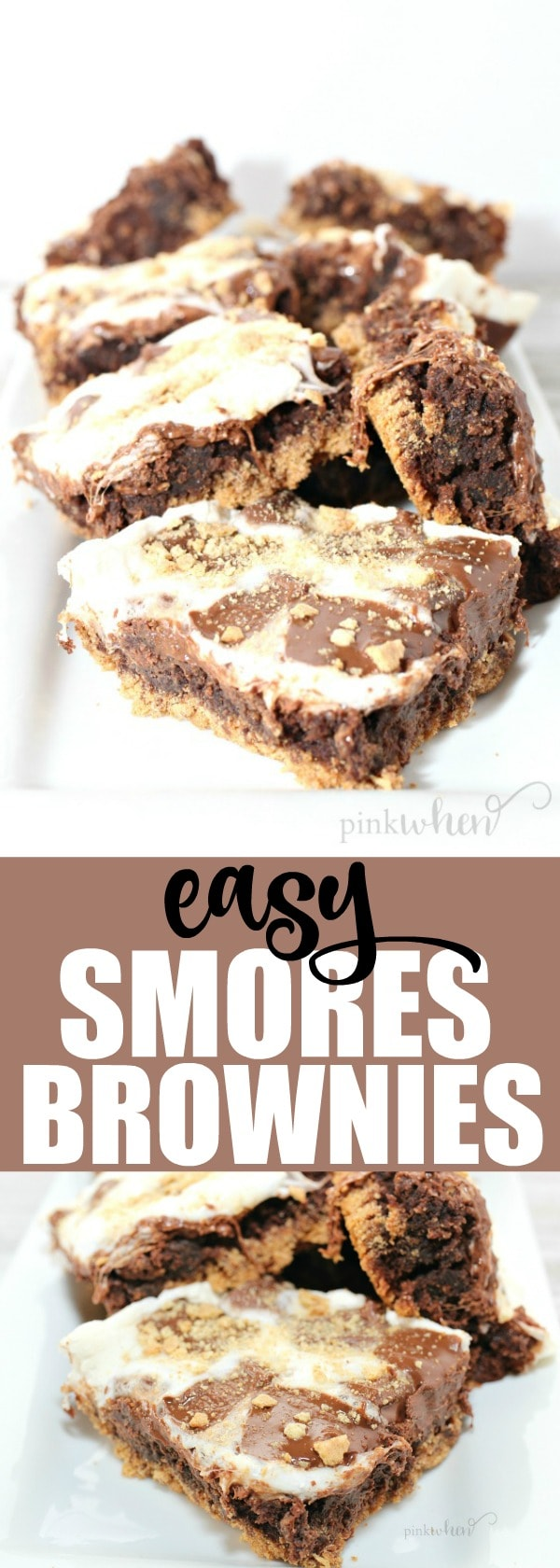 Delicious and Easy Brownie Recipe | S'mores Brownies are so easy and flavorful, and two of my favorite desserts combined into one. #easybrownies #brownierecipe #dessertrecipes