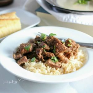 Easy Instant Pot Beef Tips and Rice