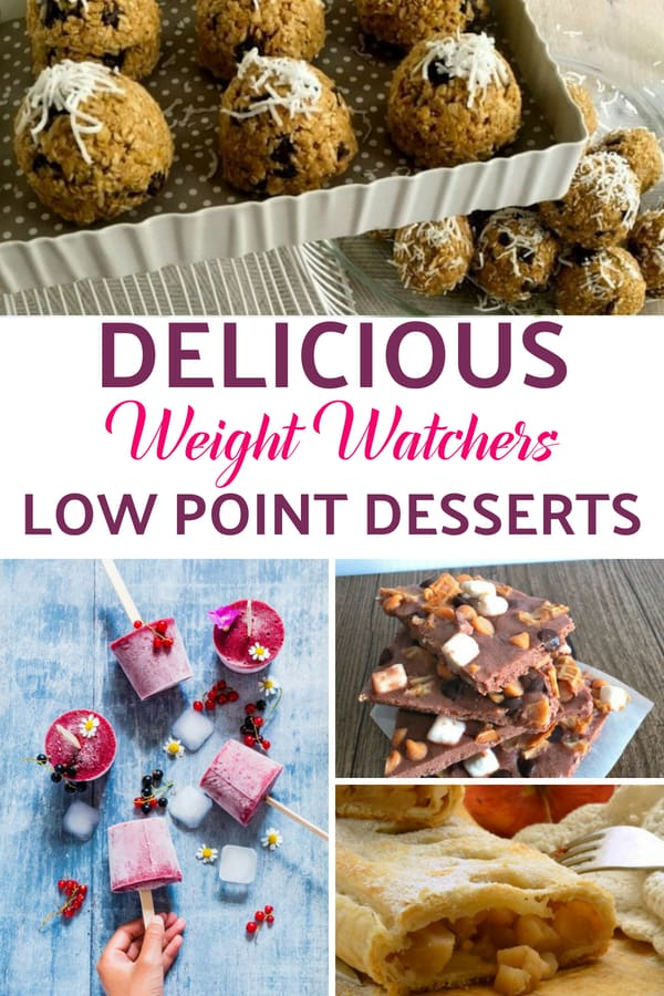 This is a GREAT list of LOW point WEIGT WATCHERS DESSERT RECIPES. You won't believe some of these are low point dessert! #WW #dessert #lowpointdessert #weightwatcherdessert #wwdessert