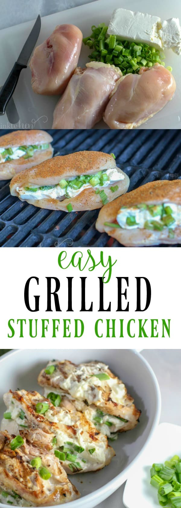 This recipe for a stuffed grilled chicken breast is mouthwateringly delicious. It takes grilled chicken to another level. #grilledchicken #stuffedchicken