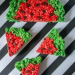 watermelon rice krispies shaped treat
