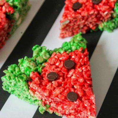 Watermelon Rice Krispie Treats Recipe
