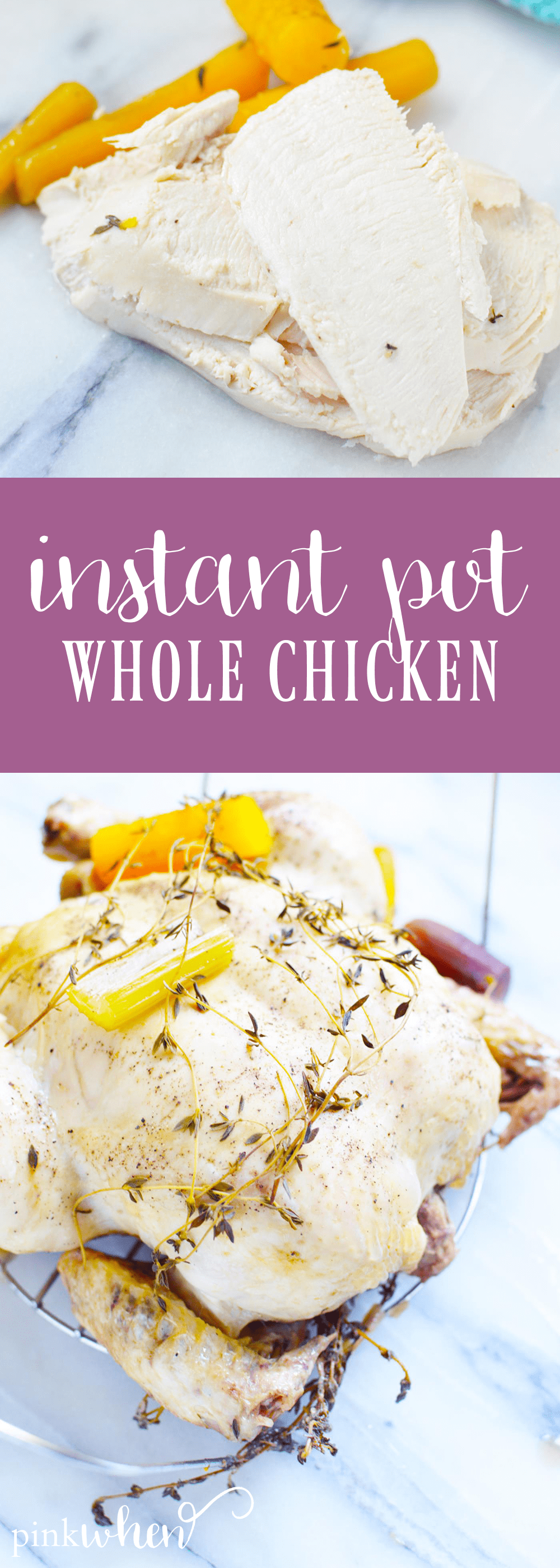This instant pot chicken recipe is a newly loved staple in our house and makes dinner SO easy! This instant pot whole chicken recipe is flavorful, moist, and delicious. It's sure to be an easy chicken recipe you refer to again and again!