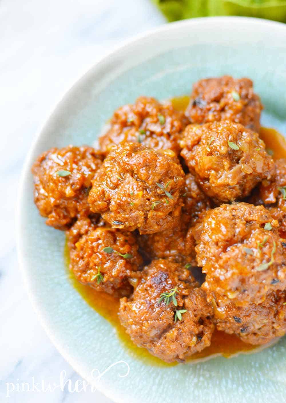These instant pot bbq meatballs are a delicious staple you're going to want to try! These meatballs are moist, flavorful, and SO SO GOOD! You'll be adding these bbq meatballs to all kinds of dinner recipes!