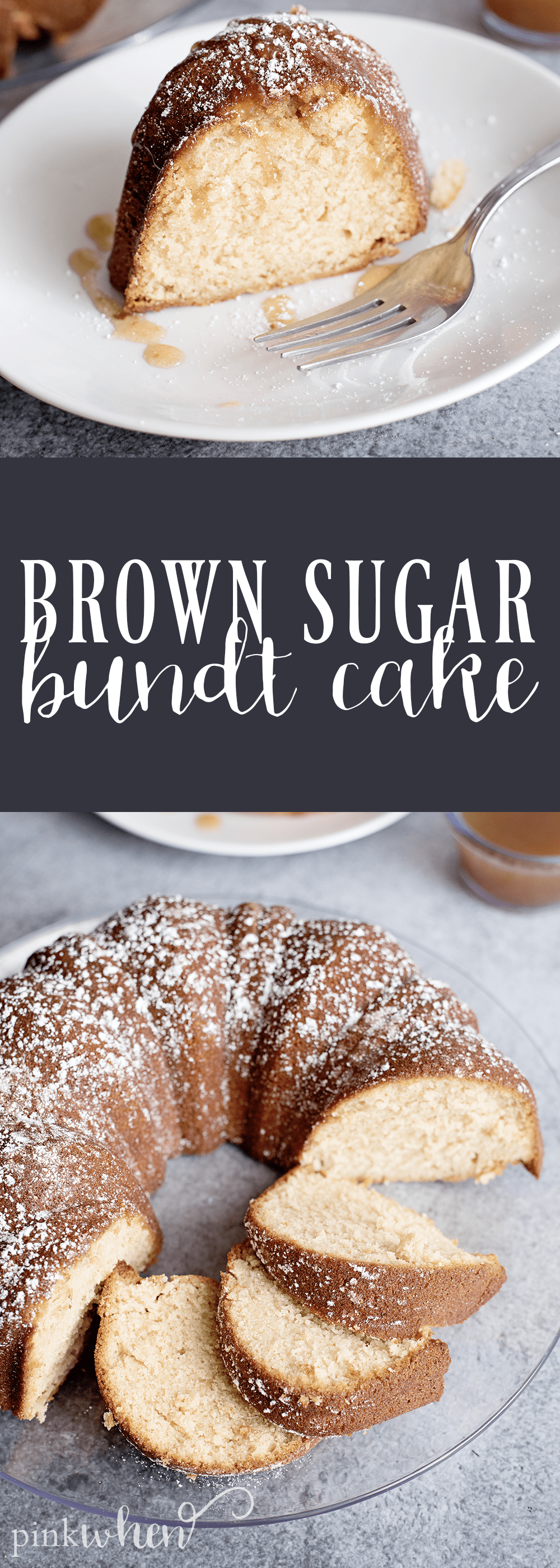 This BROWN SUGAR BUNDT CAKE is a must do recipe. It's one of the best, moist cake recipes I have had in a LONG time. Check it out! #bundtcake #cakerecipe #dessert