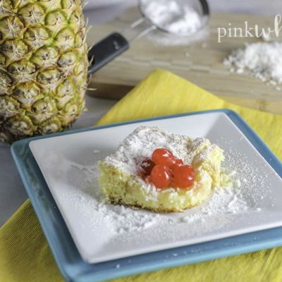 Pineapple Cake Mix Cookie Bars