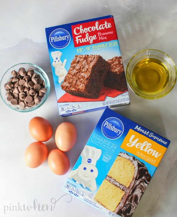 This Cake Mix Cookie Bars Brownie recipe is the BEST of both worlds! Delicious cake mix cookies and brownie rolled into ONE!