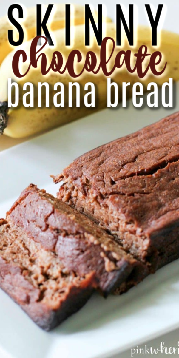This skinny chocolate banana bread recipe is Gluten Free and Paleo. Made with greek yogurt, honey, quinoa flour, and antioxidant rich organic cacao powder.