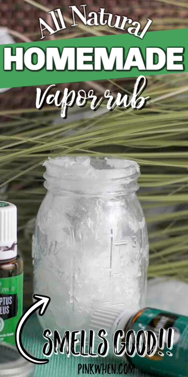 This Easy Homemade Vicks Rub only uses 3 ingredients. Not only that, but it smells good and will open you right up!