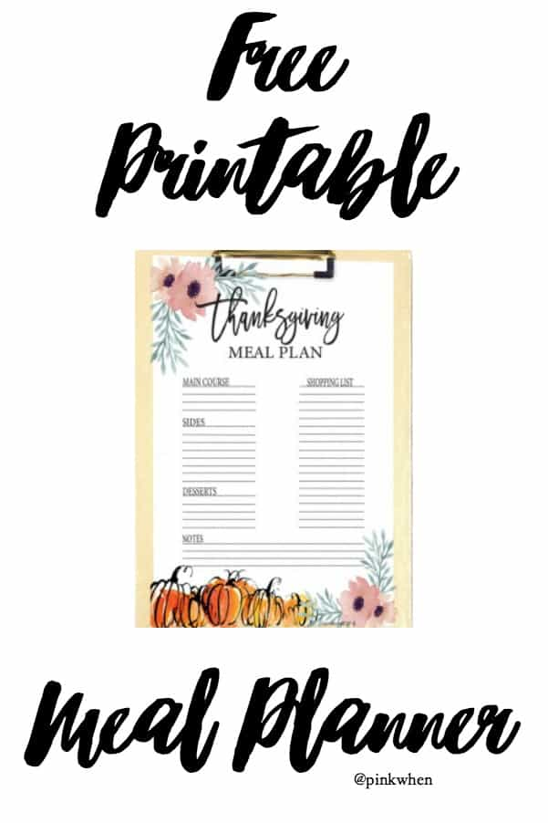 photo relating to Printable Thanksgiving Menu identify Wise and Very simple Thanksgiving Menu Free of charge Printable System - PinkWhen