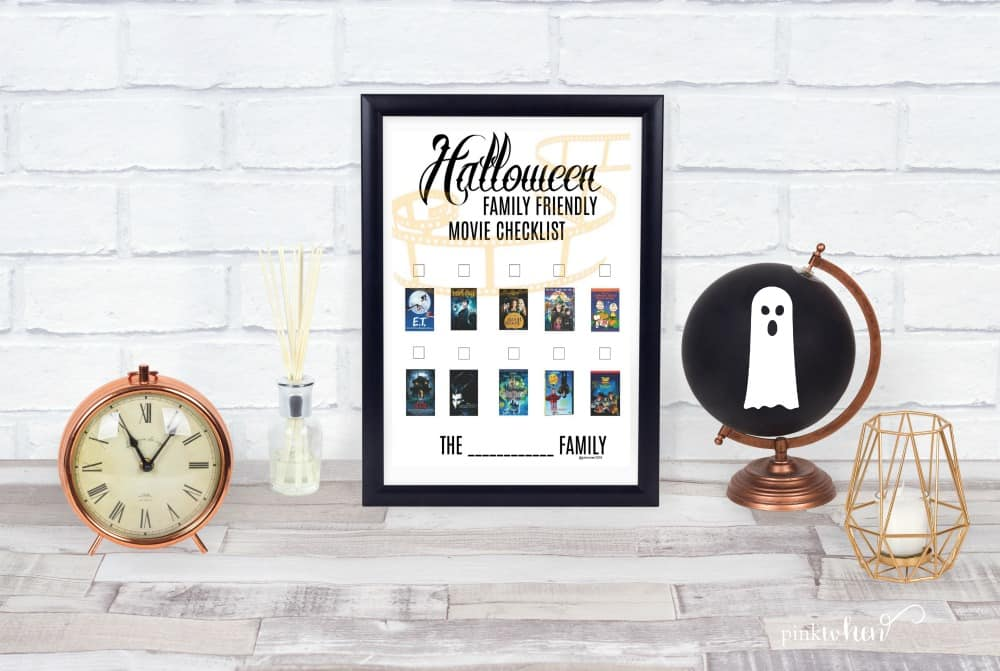 A list of some of our favorite Family Friendly Halloween Movies! Check out our TOP 10 and grab the printable list to watch with your family.