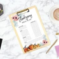 Clever and Easy Thanksgiving Menu Free Printable Plan