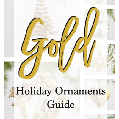 How to have a Gold Holiday with Gold Ornaments