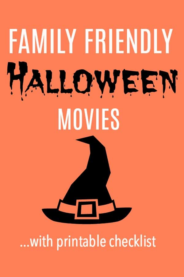 Top 10 Family Friendly Halloween Movies with a free printable checklist! Cross them off as you watch them and make your October spooky-fun!