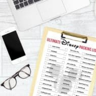 50+ Items Ultimate FREE Disney packing list