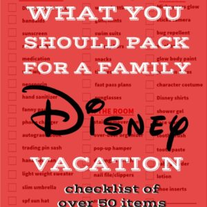 Wait til you see this ultimate FREE Disney packing list