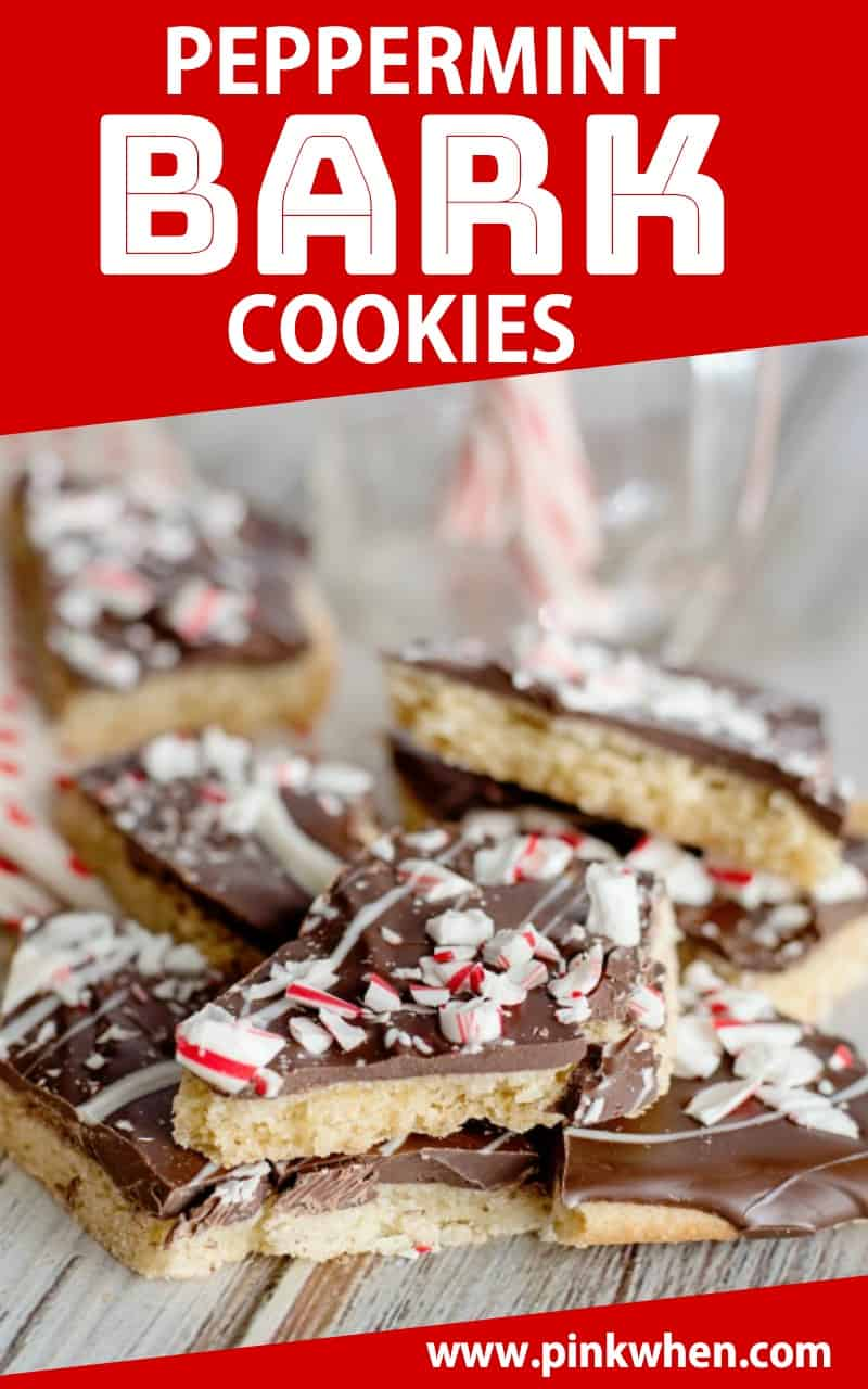 Peppermint Bark Cookies are a great dessert recipe that is full of bright flavors and so easy to make for a special holiday treat! #dessert #holidaybaking #cookies