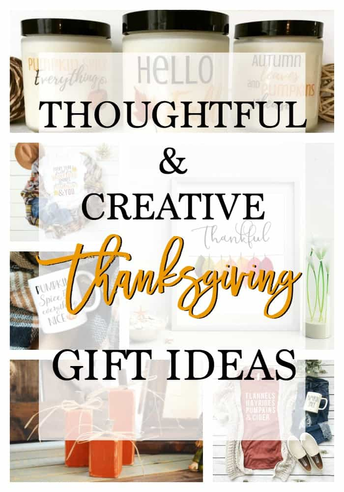 collage of Thanksgiving Gift ideas