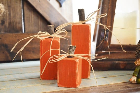 Fall inspired wooden pumpkin boxes with twine