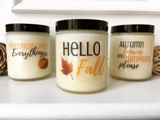 fall inspired candles