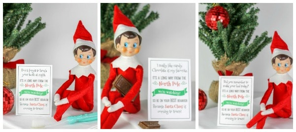 Elf on the Shelf Printables and Elf Ideas Collage of photos