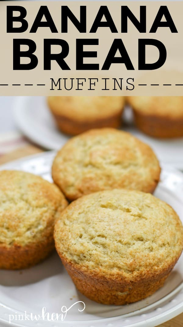 A delicious twist on regular banana bread, these banana bread muffins are moist and full of flavor. We also add one secret ingredient that makes these muffins out of this world!! #bananabread #bananabreadmuffins #easyrecipe
