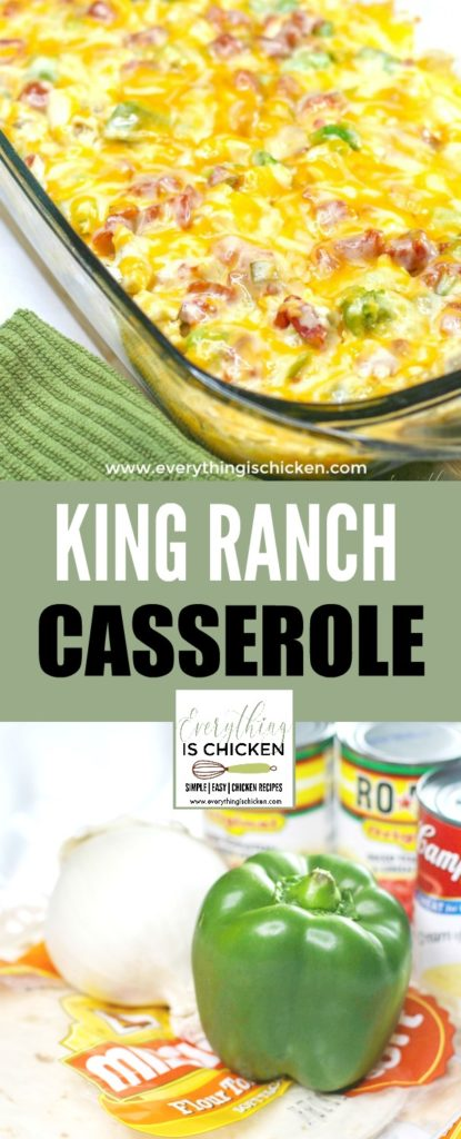 King Ranch Chicken recipe photo collage.