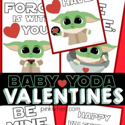 Baby Yoda Valentine Printables