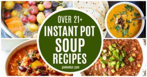 Soup Recipes Instant Pot Picture Collage