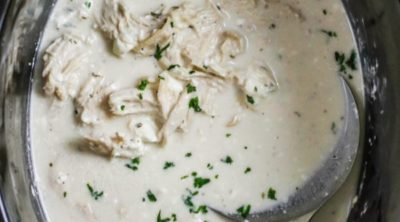 Slow Cooker Ranch Chicken in the Crock Pot.