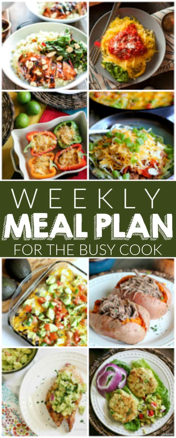 weekly meal plan collage to pin for reference with photos of meals.