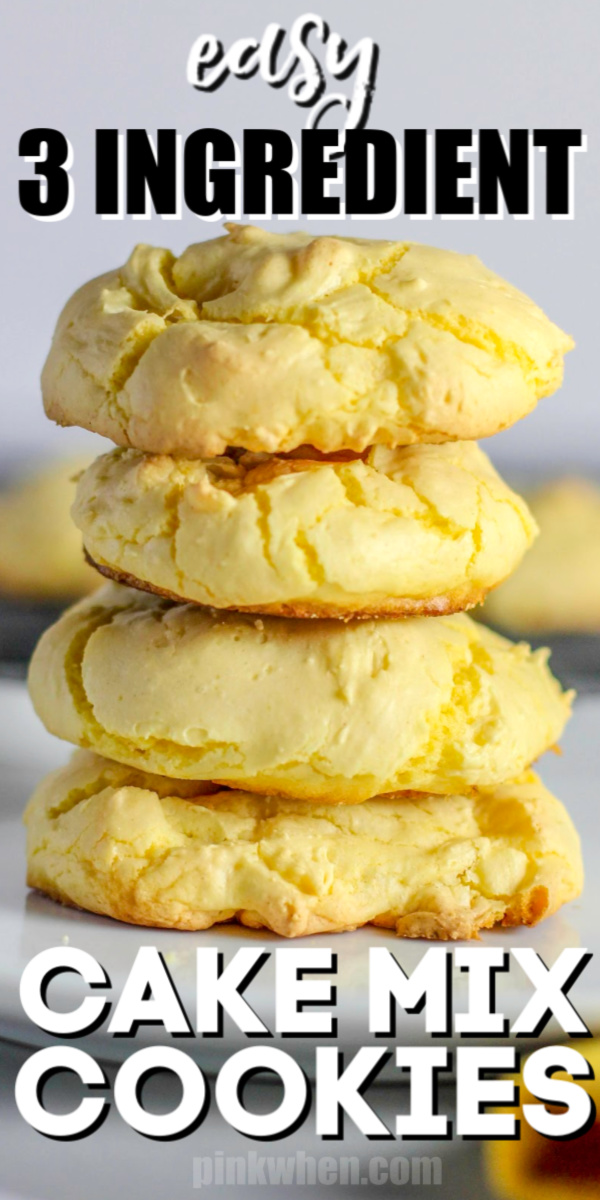 Kid Approved!! These Easy Lemon Cake Mix Cookies are soft, moist, and gooey! Not only that, but they also are big and chewy. It's the perfect easy recipe for a young little chef to try. Made with 3 ingredients and finished in under 10 minutes!