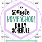 schedule for homeschool pinnable image