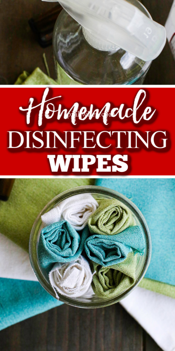 Homemade disinfecting wipes are the perfect go to cleaning product when you want to clean without using harmful chemicals. These diy cleaning wipes work great and only need a handful of ingredients.