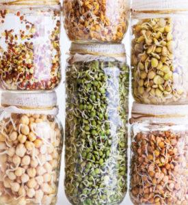 Long Term Food Storage for emergency food pantry - jars on a shelf.
