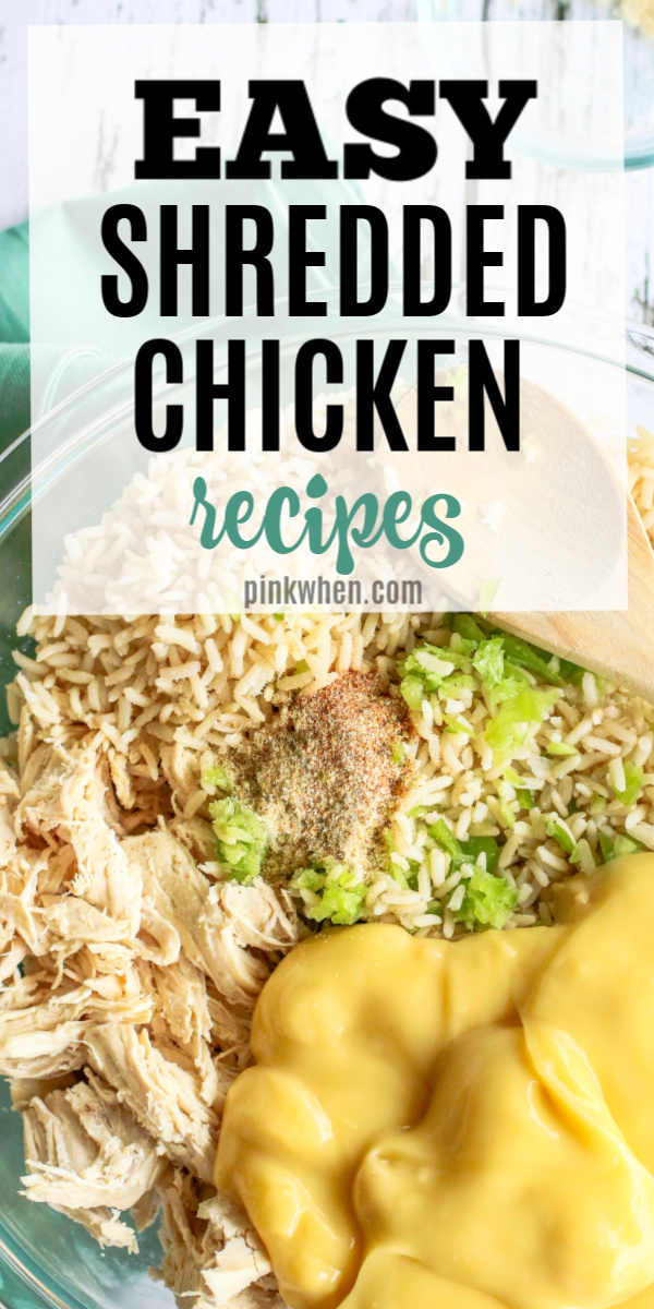 Check out this list of our favorite shredded chicken recipes. Shredded chicken is perfect for batch cooking and freezer meal prepping. If you're looking for some time saving quick and easy shredded chicken recipes, look no further than this amazing list!