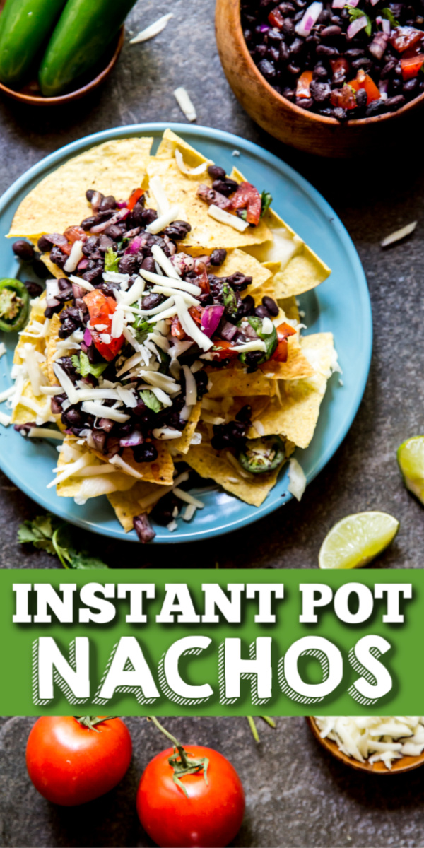 Just wait until you take a bite of these Instant Pot Black Bean Nachos. They're loaded with flavor and crazy simple to make. It's totally possible to have nachos without meat and these black bean nachos are the proof of that!