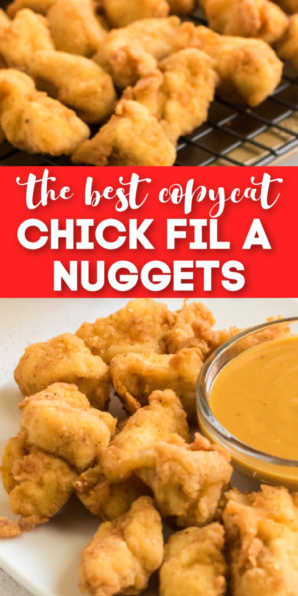 Kid Approved! These Copycat Chick Fil A Chicken Nuggets are the perfect stay at home meal! Made with boneless skinless chicken breast and the perfect blend of seasonings to make this copycat Chick Fil A Nuggets recipe taste just like the real deal!
