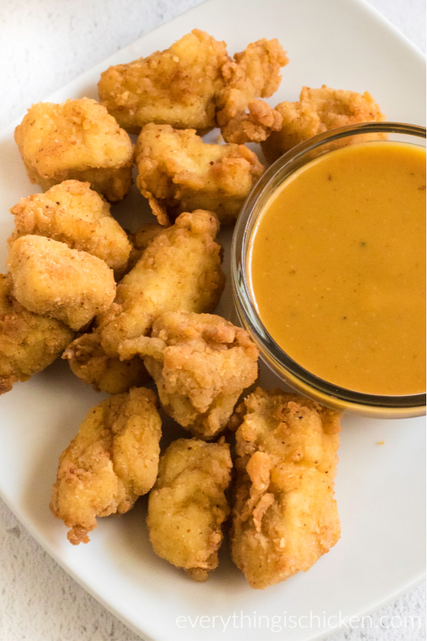 copycat chick fil a nuggets on a plate ready to serve.